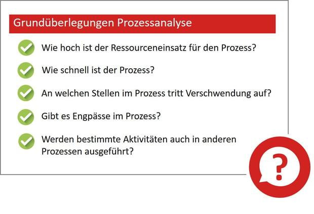 Grundüberlegung Prozessanalyse
